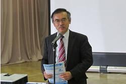 写真:阿留多伎代表理事の挨拶